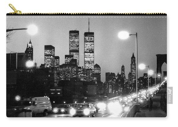 Brooklyn Bridge Traffic II Dusk 1980s Carry-all Pouch