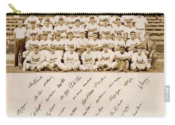 Brooklyn Dodgers Baseball Team Carry-all Pouch
