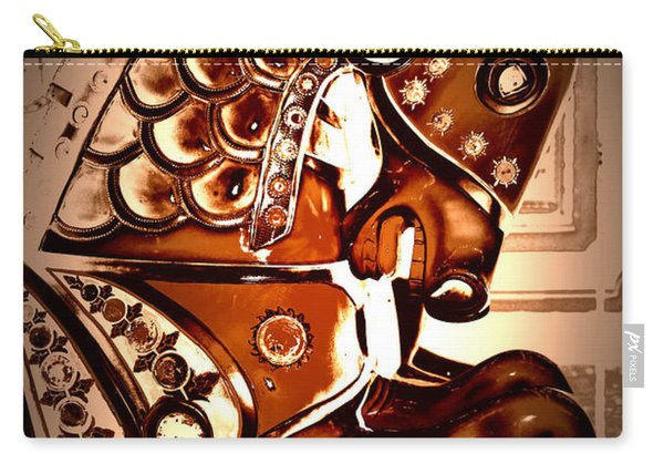 Brown Carousel Horse Carry-all Pouch