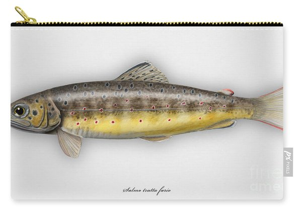 Brown Trout - Salmo Trutta Morpha Fario - Salmo Trutta Fario - Game Fish - Flyfishing Carry-all Pouch