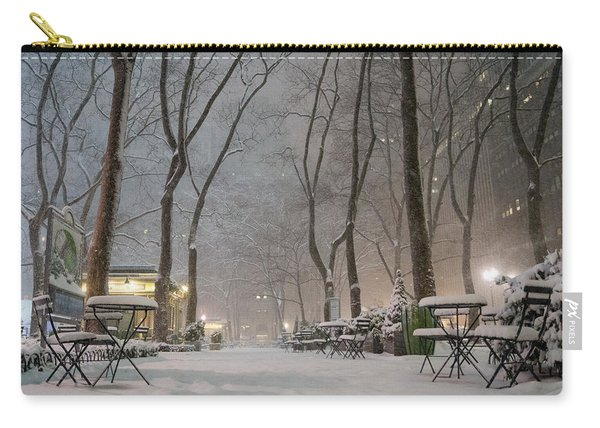 Bryant Park - Winter Snow Wonderland - Carry-all Pouch