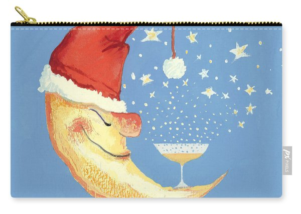 Bubbly Christmas Moon Carry-all Pouch