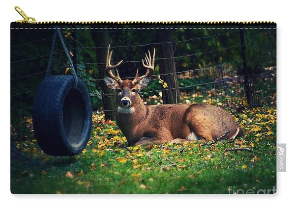 Buck In The Back Yard Carry-all Pouch