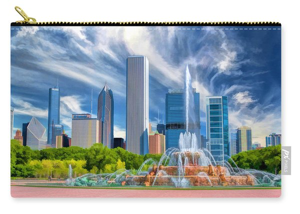Buckingham Fountain Chicago Skyscrapers Carry-all Pouch