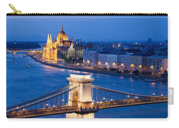 Budapest Cityscape At Night Carry-all Pouch