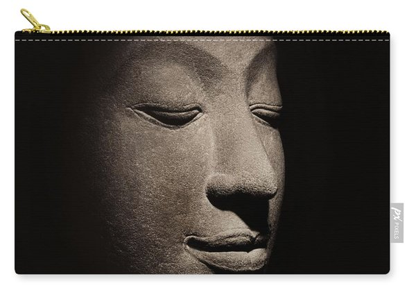Buddha Head From The Early Ayutthaya Period Carry-all Pouch