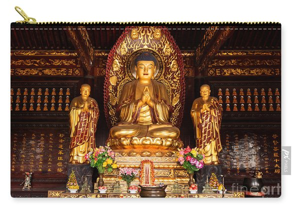 Buddha Statue And Relics At Giant Wild Goose Pagoda In Xi'an Carry-all Pouch