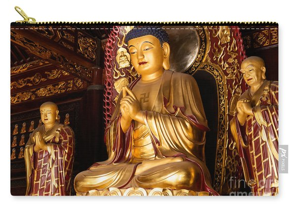 Buddha Statue At Big Wild Goose Pagoda In China Carry-all Pouch