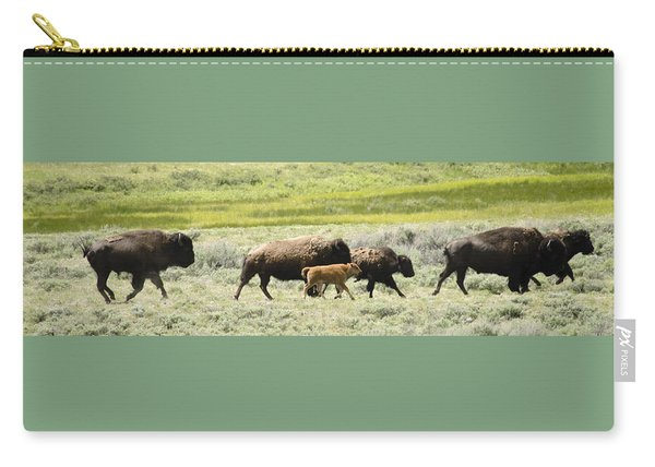 Buffalo Family Carry-all Pouch