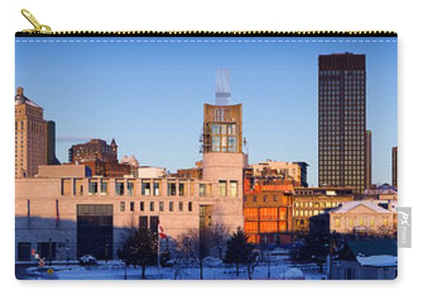 Buildings In Winter, Montreal, Quebec Carry-all Pouch