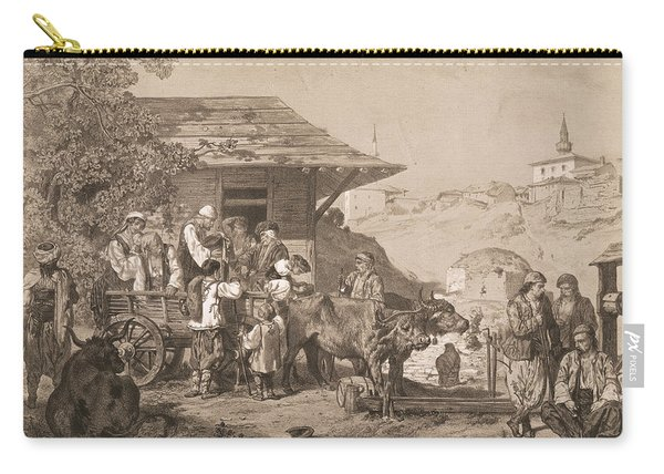 Bulgarians Near Varna, Printed By Lemercier, Paris Litho Carry-all Pouch