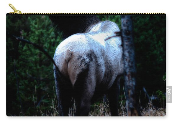 Bull Elk In Moonlight  Carry-all Pouch