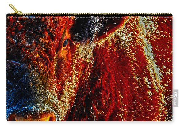 Bull On Ice Carry-all Pouch