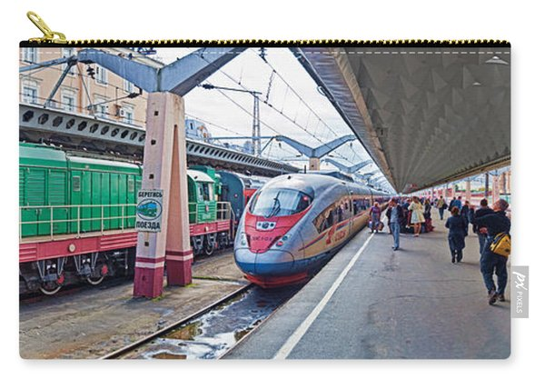 Bullet Train At A Railroad Station, St Carry-all Pouch