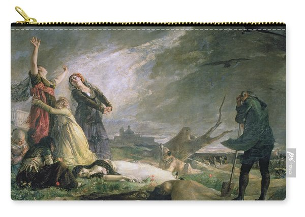 Burial At La Moncloa In May 1808 Oil On Canvas Carry-all Pouch