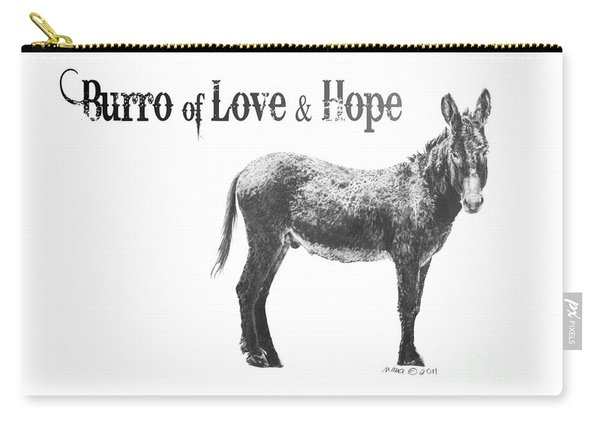 Burro Of Love And Hope Carry-all Pouch