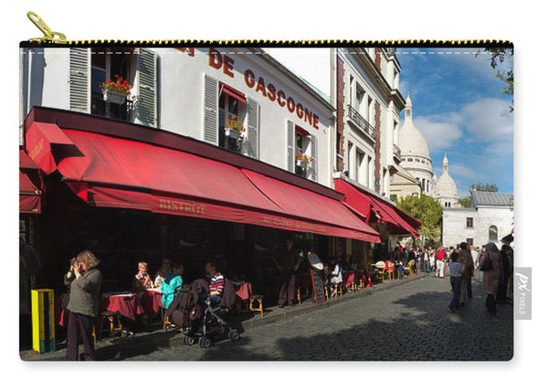 Busy Street Lined With Bistros Carry-all Pouch