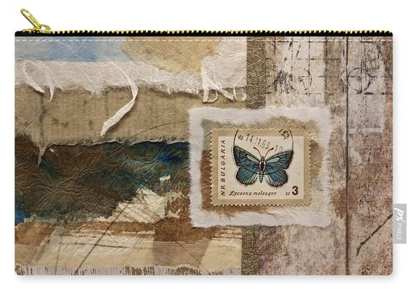 Butterfly And Blue Collage Carry-all Pouch