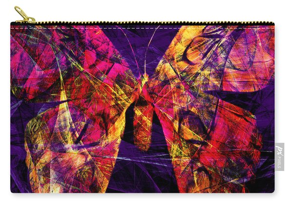 Butterfly In Abstract Dsc2977 Square Carry-all Pouch
