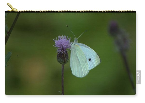 Butterfly In White 2 Carry-all Pouch