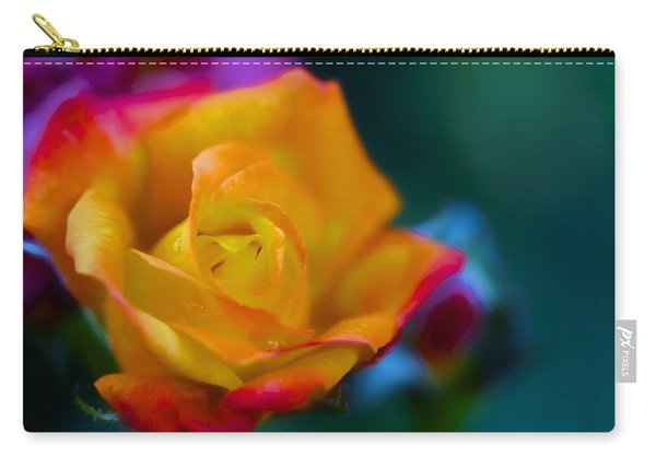Butterscotch Rose Carry-all Pouch