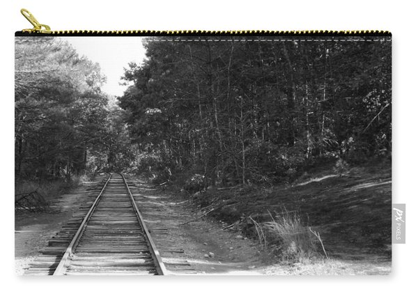 Bw Railroad Track To Somewhere Carry-all Pouch