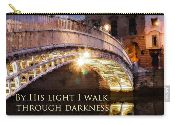 By His Light I Walk Carry-all Pouch