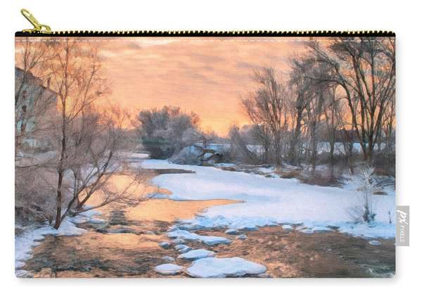 Carry-all Pouch featuring the photograph By The Old Mill by Garvin Hunter