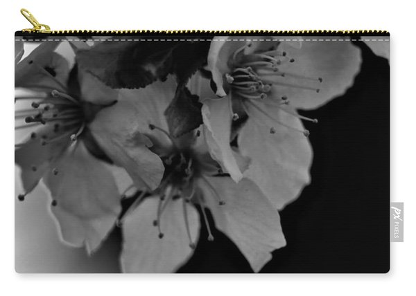Cab Apple Blossoms In Black N White Carry-all Pouch