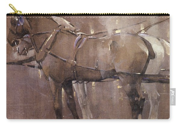 Cab Horses By Gaslight  Carry-all Pouch