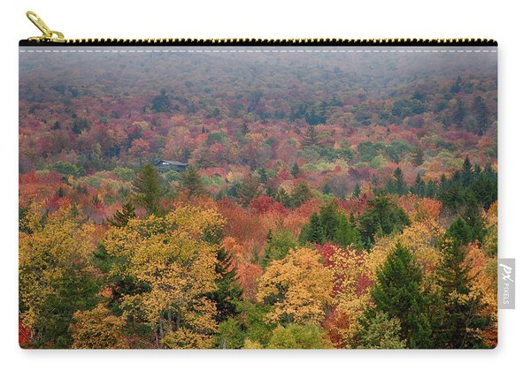 Cabin In Vermont Fall Colors Carry-all Pouch