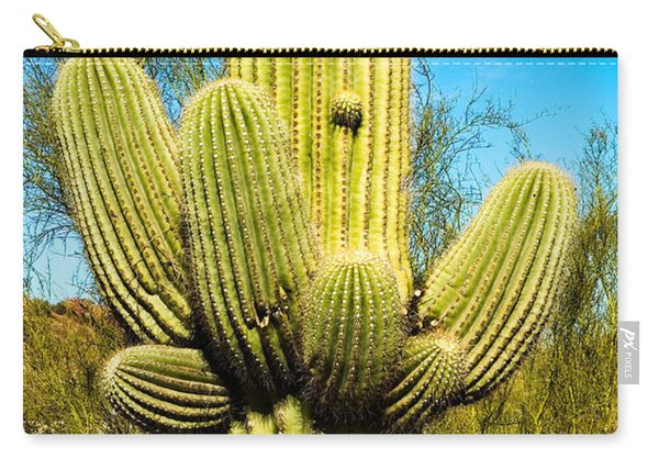 Carry-all Pouch featuring the photograph Cactus Face by Mae Wertz