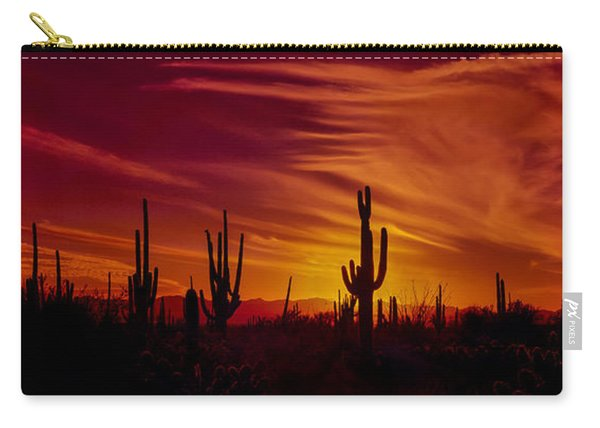 Cactus Glow Carry-all Pouch