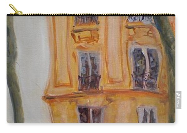 Cafe Bar La Cappuccino, 2010 Oil On Canvas Carry-all Pouch