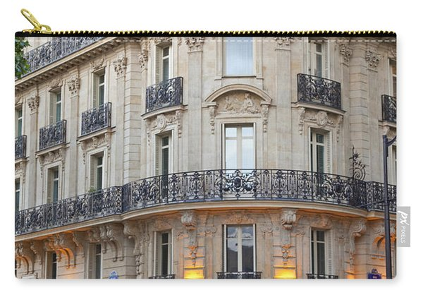 Carry-all Pouch featuring the photograph Cafe Francais by Brian Jannsen