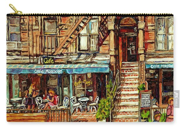 Cafe Mogador Moroccan Mediterranean Cuisine New York Paintings East Village Storefronts Street Scene Carry-all Pouch