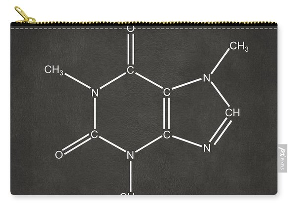 Caffeine Molecular Structure Gray Carry-all Pouch