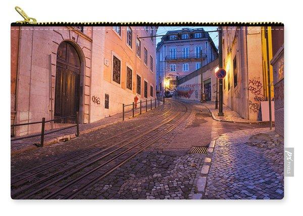 Calcada Da Gloria Street At Dusk In Lisbon Carry-all Pouch