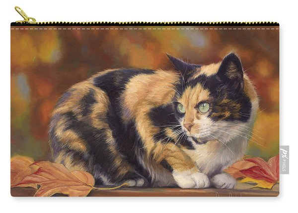 Calico In The Fall Carry-all Pouch