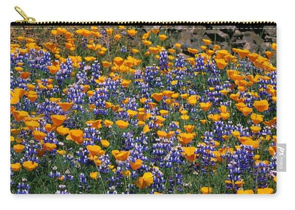 California Golden Poppies Eschscholzia Carry-all Pouch