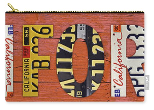 California State Name In License Plates Art Carry-all Pouch