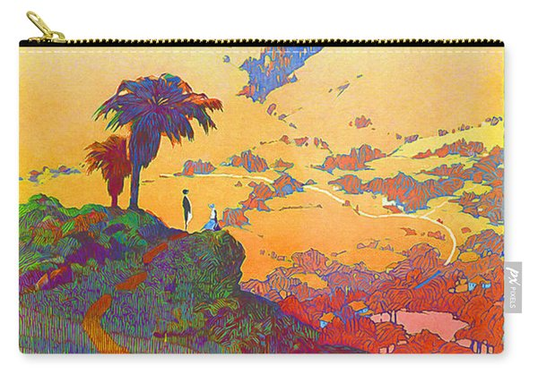 California Vintage Travel Poster Carry-all Pouch