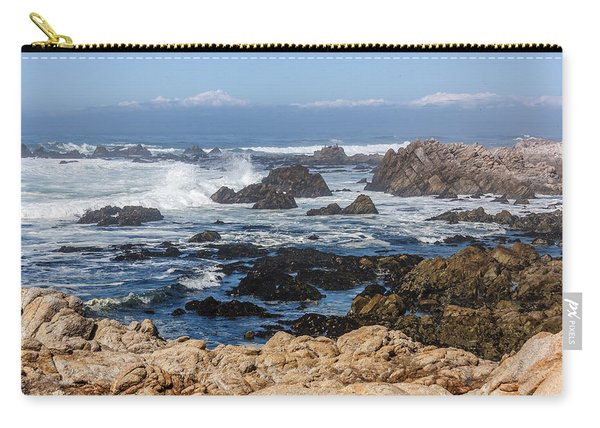 Carry-all Pouch featuring the photograph Californian Coastline by Susan Leonard