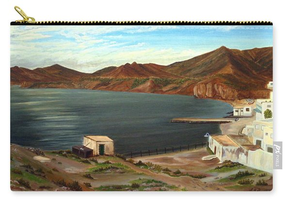 Carry-all Pouch featuring the painting Calm Bay by Angeles M Pomata