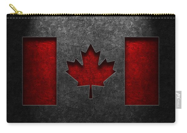Canadian Flag Stone Texture Carry-all Pouch
