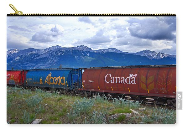 Canadian Freight Train In Jasper #2 Carry-all Pouch