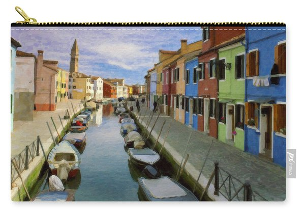 Canal Burano  Venice Italy  Carry-all Pouch