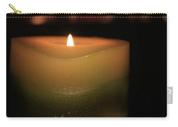 Carry-all Pouch featuring the photograph Candle Light by Susan Leonard