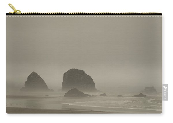 Cannon Beach In A Fog Oregon Carry-all Pouch