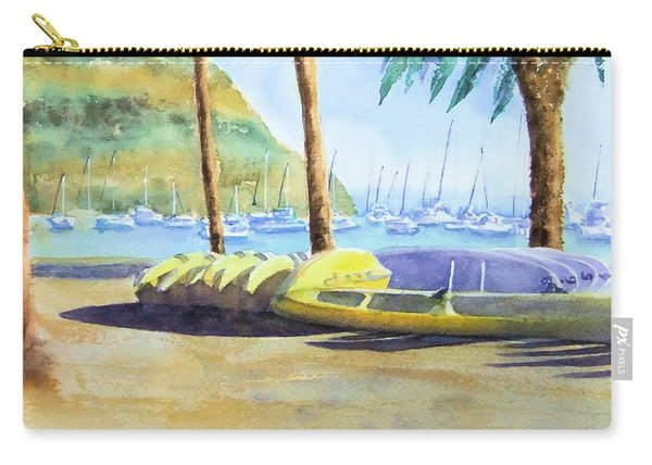 Canoes And Surfboards In The Morning Light - Catalina Carry-all Pouch